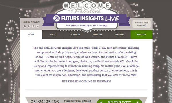 I'm Going to Future Insights Live